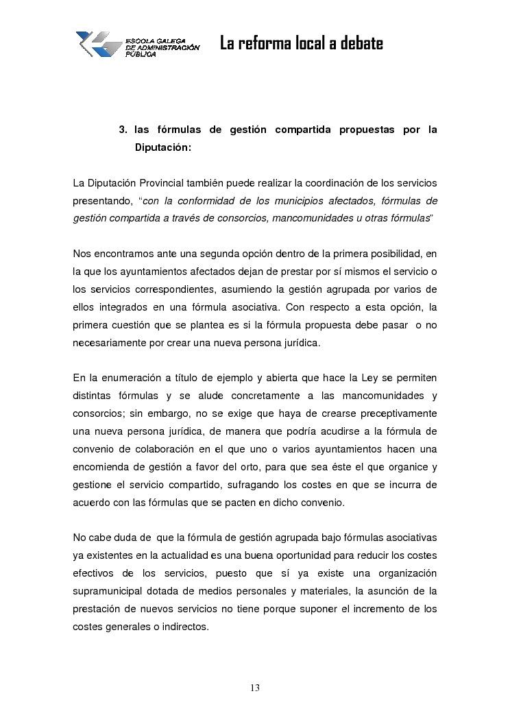 O papel das deputacións na reforma da Administración local: autonomía provincial versus autonomía municipal